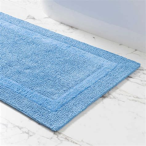 signature french blue bath rug pine cone hill