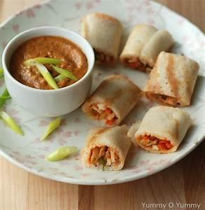 Chicken Spring Roll Dosa [Dosa Recipes] Yummy O Yummy