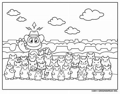 Geocaching Coloring Signal Sheet Sheets Hamsters Education