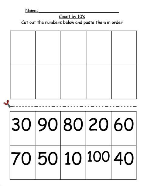 counting by 10s worksheet kindergarten worksheets for all