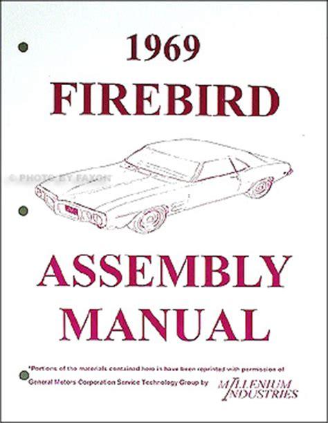 automotive service manuals 1969 pontiac firebird spare parts catalogs 1969 pontiac body repair shop manual original firebird gto tempest lemans catalina bonneville
