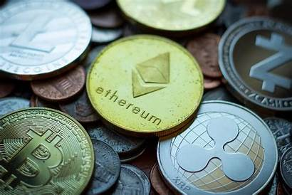 Coins Bitcoin Ethereum Crypto Currency Litecoin Assorted