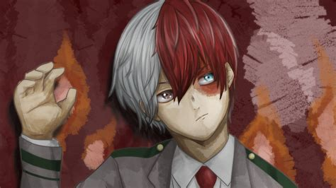 hero academia shoto todoroki art  hd wallpapers hd