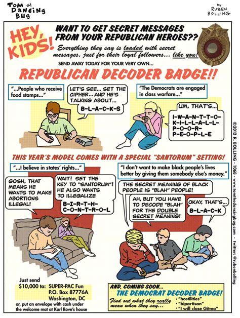 tom  dancing bug   republican decoder badge