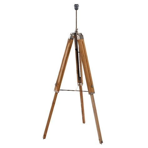 wooden tripod floor l natural wood tripod floor l base by quirk