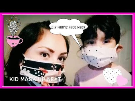 diy super easy fabric face mask  menwomanteens