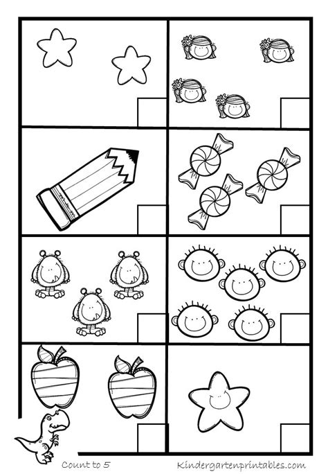 kindergarten counting worksheets 1 5 worksheets for all
