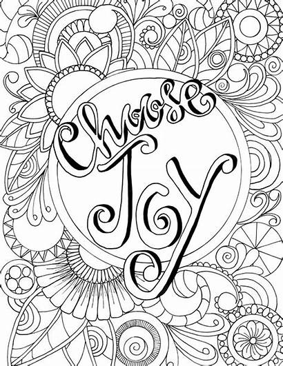 Joy Coloring Choose Pages Judyclementwall Words Quotes