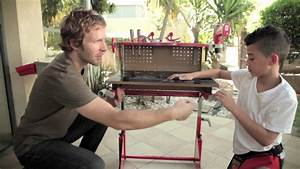 Red Toolbox Workbench for Kids - YouTube