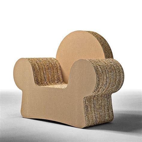 Design armchair made of cardboard, with armrests   IDFdesign