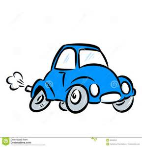Blue Fast Car Cartoon