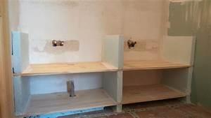 Meuble avec plan de travail maison design modanescom for Meuble salle de bain avec plan de travail