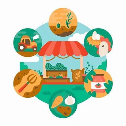Farming Illustration Organic Theme Vector Freepik