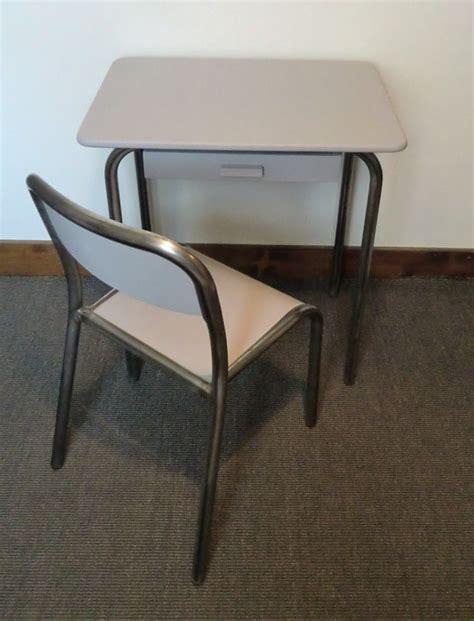 bureau metal gris bureau ecolier gris metal cire tubulaire avec chaise gris