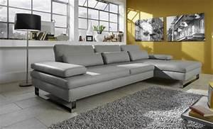 six beaux canapes d39angle en cuir gris With canapé en cuir gris anthracite
