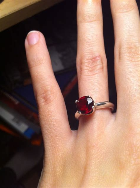 calling all ruby or garnet e ring wearers not as sure as i thought