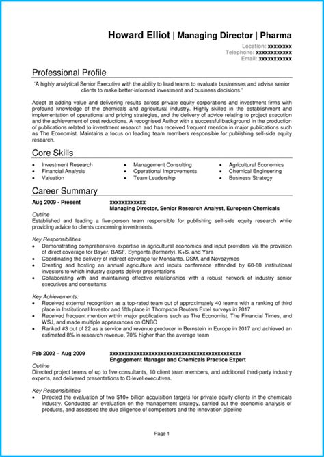 Template Cv Professionnel by Professional Cv Template With 7 Exle Cvs For Inspiration