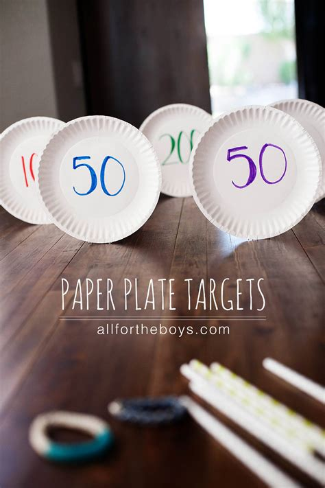 paper plate targets    boys