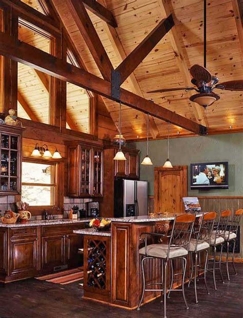 log home kitchens in company building a log home with someone else