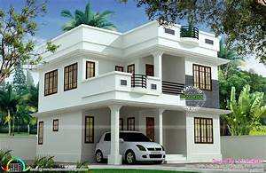 Modern, House, Front, View, Double, Floor