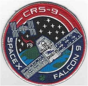 CRS-9 SpaceX Mission Patch - US AIR FORCE SPACE AND ...