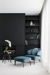 28, Ideas, For, Black, Wall, Interiors, U0026, How, To, Style, Them