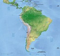 Vector Map South America continent relief | One Stop Map