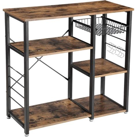 It's hard to imagine a world without coffee, a world where you don't have your coffee bar 101. Industrial Kitchen Baker's Rack, Coffee Bar, Microwave Oven Stand Metal Frame, Wire Basket 6 ...