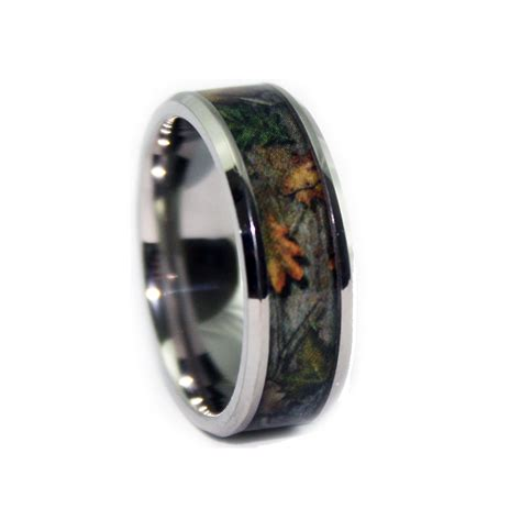 camo wedding rings bevel titanium band by 1 camo