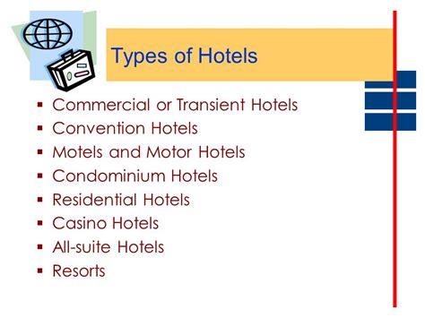 Resorts Types Of Resorts/hotels Characteristics Of Resort