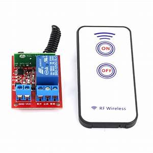 Buy 12v 1 Channel Rf Wireless Relay Module With Remote