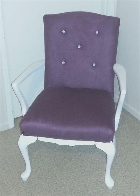 white purple chair felt
