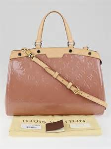 louis vuitton rose velours monogram vernis brea mm bag
