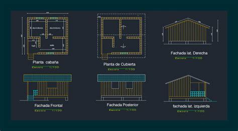 Detached Cabin  Dwg Design Section  Autocad Designs Cad