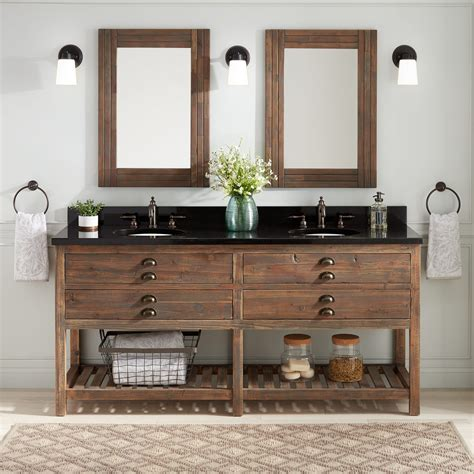 Bathroom Vanity - 72 quot benoist reclaimed wood console vanity for