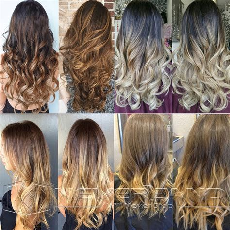 24clip In Synthetic Hair Extension Ombre Two Tone Long