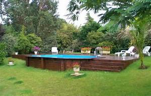 Piscine Semi Enterré Bois : piscine semi enterr e en bois nos conseils ~ Premium-room.com Idées de Décoration