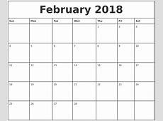March 2018 Calendar Maker