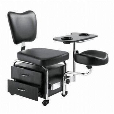 manicure tables and pedicure chairs made of pvc leather
