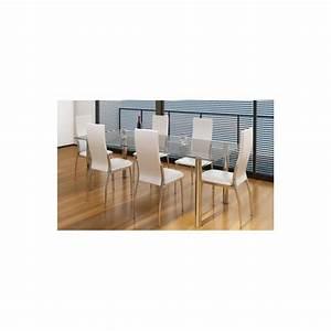 Chaise De Salle A Manger Pas Cher : chaise de salle manger alu lot de 6 achat vente chaise salle a manger pas cher couleur ~ Teatrodelosmanantiales.com Idées de Décoration