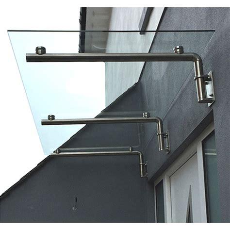 glass door canopy  steel brackets cm   cm