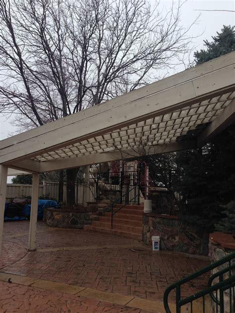 xl timber pergola replaces 20 year metal wood pergola