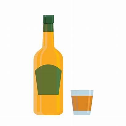 Bottle Wine Cartoon Silhouette Whisky Clipart Vodka