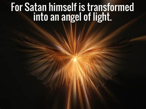 satan angel of light vision of demons transforming themselves to angels of