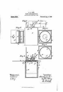 Patent Us929960 - Waste-paper Receptacle