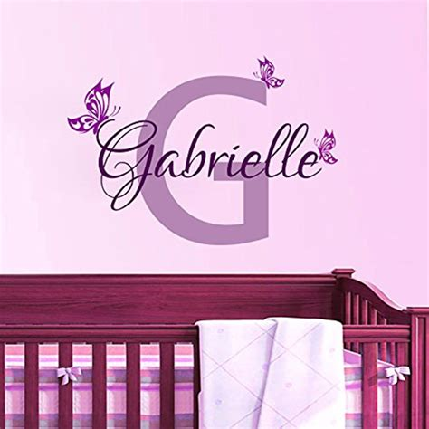 stickers chambre fille feerique personalized butterfly name vinyl wall decal home