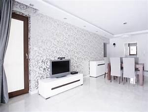 Ideen Fürs Wohnzimmer : tapeten 13 ideen zur wandgestaltung im wohnzimmer ~ Buech-reservation.com Haus und Dekorationen