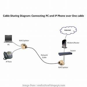 Wiring Diagram  Ethernet Splitter Best Rj45 Splitter  For