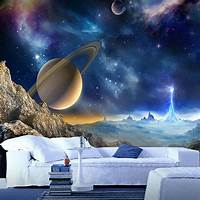 lovely space wall mural Custom 3D Mural Wallpaper For Wall Outer Space Planet Amazing Astronomy World Photo Wall Paper ...