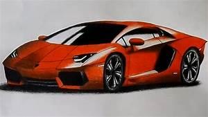 Lamborghini Aventador Drawing   Time Lapse - YouTube